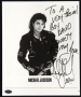 BAD Album Cover Promo Photo Signed By Michael To David Sonnett (1987)