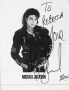 BAD Album Cover Promo Photo Signed By Michael *To Rebecca* (1987)