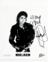 BAD Album Cover Promo Photo Signed By Michael #6 (1987)