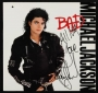 BAD Album Signed By Michael *All My Love* (1987)