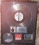 Bad RIAA Platinum To Michael Jackson For The Sale Of 1 Million Copies Of LP/CD/Cassette In USA