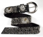 "Black Leather ""Michael Morrison MX"" Belt"