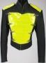Black Vinyl Jacket With Yellow Chest Panel (1990's)