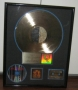 Blood On The Dance Floor RIAA Gold Award Presented To Epic For The Sale Of 500,000 Copies Of  LP In USA