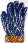 Blue And Gold Crystal Glove (1980's)