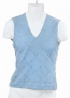 Blue Lined Sweater Vest With Crystals (1974)