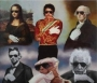 Famous Figures Wearing White Glove/Sunglasses Acrylic Painting By Paul Bedard (1980's)