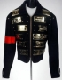 Guiness Book Of World Records Ceremony Black Suede Jacket With License Plates (1993)