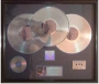 HIStory RIAA Multi-Platinum Record Award For The Sale Of 3 Million Copies Of The LP/Cassette/CD In USA