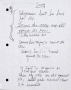 Innocent Man Partial Handwritten Lyrics #6 (1993)