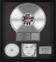 Invincible RIAA Platinum Award For The Sale Of 2 million Copies Of The LP In USA