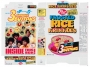Jackson 5 Post *Frosted Rice Krinkles* Cereal Box W/ Groovy Buttons (USA)