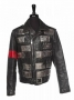LA Gear Photoshoot Leather Jacket With Metal Plaques Worn By Michael Jackson (1989)