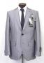 MJ Official Men's Clothing Line Gray Pinstripe Suit  Model 551 (Japan)