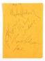 Memo Sheet Signed By Randy, Tito, Marlon And Michael Jackson (1979)