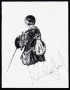 "Michael Jackson Signed ""Vagabond"" Ink Drawing (1981)"
