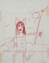 "Michael Jackson Drawing ""Girl With Diamond Ring"" (1972)"
