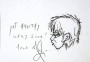"Michael Jackson Drawing ""Get Healthy Very Soon"" (1996/97)"