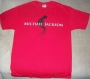 "Michael Jackson Red ""Toes"" Bravado T-Shirt (USA)"