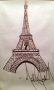 Michael Jackson Drawing Of The Eiffel Tower *Gifted To Corey Feldman*