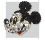 Gold & Jeweled Mickey Mouse Brooch