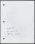 Morphine Handwritten Working Lyrics #3 (1996)