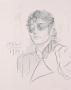 Peter Max Original Signed Charcoal Michael Jackson Portrait (1984)