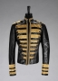 Roberto Cavalli Black Leather Jacket Signed By Michael