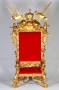 Michael's Personal Royal Gold Throne In Red Velvet