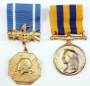 Set Of Two Military Style Gold Medals