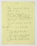 """T.S. (""""D.S."""") Partial Handwritten Lyrics #2 (1994)"""