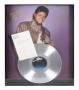 """Thriller Platinum Award With Letter """"To Dennis"""" Signed By Michael Jackson (1983)"""