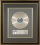 Thriller RIAA Platinum Award For The Sale Of 1 Million Copies Of The LP In USA