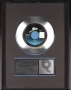 Thriller RIAA Platinum Record Award For The Sale Of 1 Million Copies Of The Single In USA