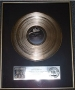 Triumph RIAA Platinum Award For 1 Million Copies Of The LP Sold In USA