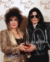 American Music Awards Photo Signed By Michael And Elizabeth Taylor #2 (1993)
