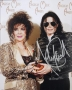 American Music Awards Photo Signed By Michael And Elizabeth Taylor #3 (1993)