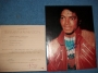 Beat It Jacket Autographed Picture Of Michael Jackson *Certified* (1983)