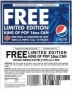 BAD 25 Anniversary Pepsi Coupon To Win A 16 Oz.Can (USA)