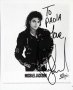 BAD Album Cover Promo Photo Signed By Michael *To Paola* (1987)