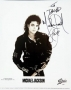 BAD Album Cover Promo Photo Signed By Michael *To David* (1987)