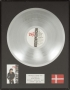 BAD Danish Record Award For The Sale Of 100,000 Copies Of The Album in Denmark