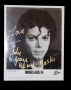 BAD Promotional MJJ Productions Photo Signed By Michael To J.Levine (USA)