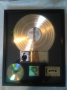 BAD RIAA Gold Record Award To Hard Rock Café For 500,000 Sales