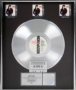 BAD RIAA Triple Platinum Award *Presented To Brad Hanson* (1987)