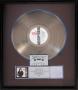 BAD RIAA Platinum Record Award Signed By Michael (1987)