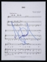 BAD Sheet Music Page Signed By Michael (1987)