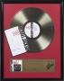 BAD Signed Epic Gold Award For The Sale Of More Than 500,000 Copies Of The Album in USA