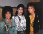 BAD Tour Backstage Photo Signed By Michael, Liz Taylor And Sophia Loren (1988)
