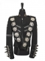 BAD Tour Black Jacket With Metal Buckles And Badges Worn By Michael Jackson (1987)